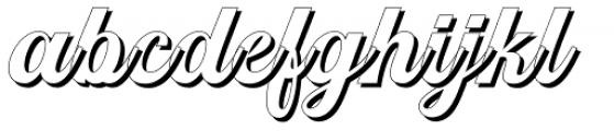 Srikandy Shadow Regular Font LOWERCASE