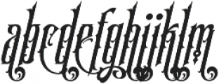 SS Amberosa Stylistic 02 otf (400) Font LOWERCASE