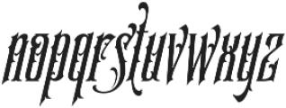 SS Amberosa Stylistic 12 otf (400) Font LOWERCASE