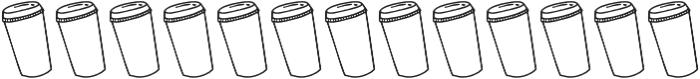 SS Mocha Latte Doodles Dingbat otf (400) Font UPPERCASE
