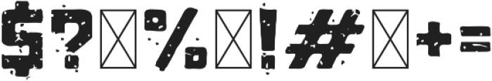 ST-Kooperativ Scratched ttf (400) Font OTHER CHARS