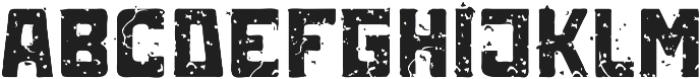 ST-Kooperativ Scratched ttf (400) Font LOWERCASE