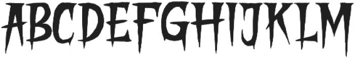 STRANGER CREATURE Regular otf (400) Font UPPERCASE