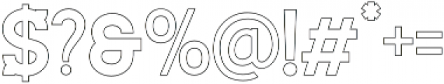 Staincool Outline otf (400) Font OTHER CHARS