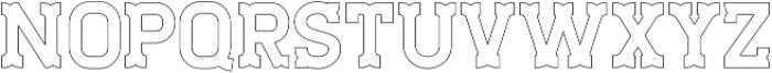 Staincool Outline otf (400) Font UPPERCASE