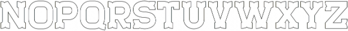 Staincool Outline otf (400) Font LOWERCASE