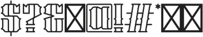 Stalwart Outline otf (400) Font OTHER CHARS