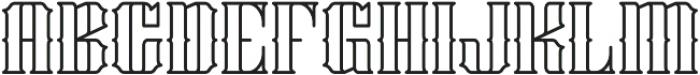 Stalwart Outline otf (400) Font UPPERCASE