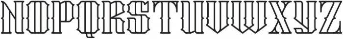 Stalwart Outline otf (400) Font LOWERCASE