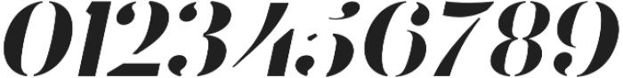 Stamcil Italic otf (400) Font OTHER CHARS