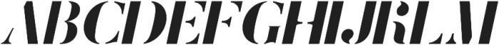 Stamcil Italic otf (400) Font UPPERCASE