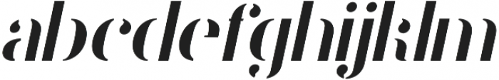 Stamcil Italic otf (400) Font LOWERCASE