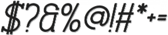 Stammark Shadow Oblique otf (400) Font OTHER CHARS