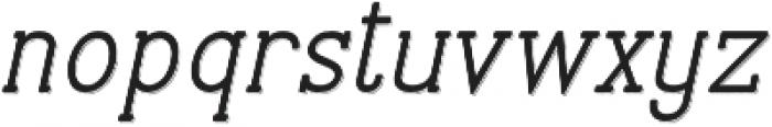 Stammark Shadow Oblique otf (400) Font LOWERCASE