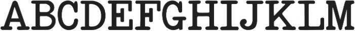 StandardTypewriter Regular ttf (400) Font UPPERCASE