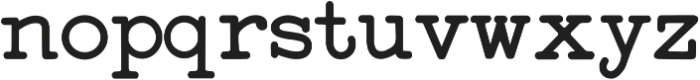 StandardTypewriter Regular ttf (400) Font LOWERCASE