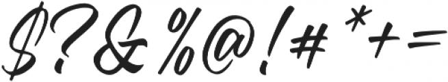 Standberg Regular otf (400) Font OTHER CHARS