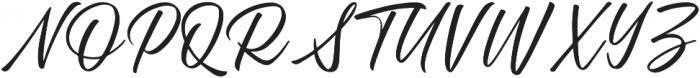 Standberg Regular otf (400) Font UPPERCASE