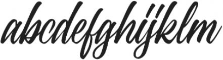 Standberg Regular otf (400) Font LOWERCASE