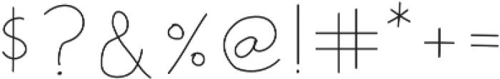 Star Bright Moon Light Script otf (300) Font OTHER CHARS