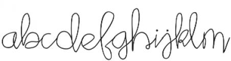 Star Bright Moon Light Script otf (300) Font LOWERCASE