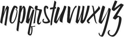 Star Tail otf (400) Font LOWERCASE
