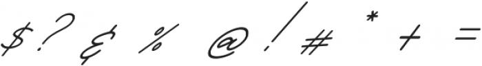 Starcity Script Slant otf (400) Font OTHER CHARS