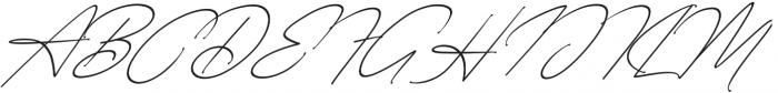 Starcity Script Slant otf (400) Font UPPERCASE
