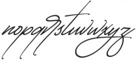 Starcity Script Slant otf (400) Font LOWERCASE