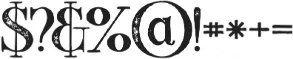 Starla Bold Grunge otf (700) Font OTHER CHARS
