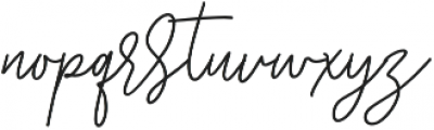 Starlose otf (400) Font LOWERCASE