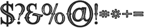 Starship Bold Inline Grunge otf (700) Font OTHER CHARS