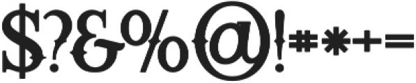 Starship Bold otf (700) Font OTHER CHARS