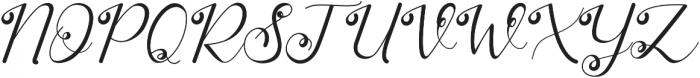 Stasya Regular otf (400) Font UPPERCASE