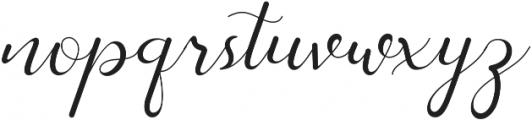 Stasya Regular otf (400) Font LOWERCASE