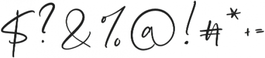 Stay Bright Script otf (400) Font OTHER CHARS