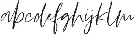 Stay Bright Script otf (400) Font LOWERCASE