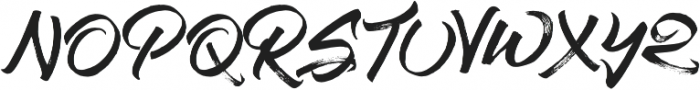 Stay Chill otf (400) Font UPPERCASE
