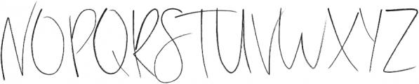 Stay Late otf (400) Font UPPERCASE