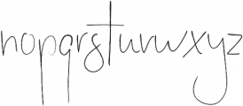 Stay Late otf (400) Font LOWERCASE