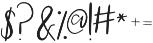 Staycation otf (400) Font OTHER CHARS