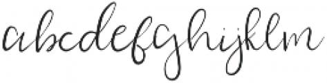 Staycation otf (400) Font LOWERCASE