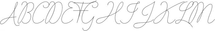 Stayreed Regular otf (400) Font UPPERCASE