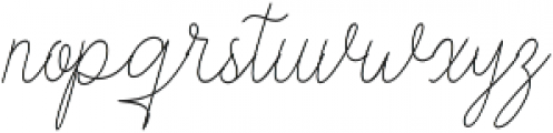 Stayreed Regular otf (400) Font LOWERCASE