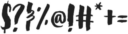 Steady Bonanza Script Too otf (400) Font OTHER CHARS