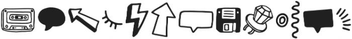 Steamed Hams Doodles otf (400) Font LOWERCASE