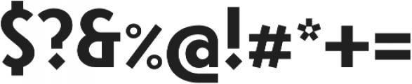 Steamer Bold otf (700) Font OTHER CHARS