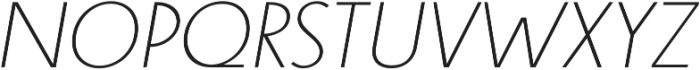 Steamer Light Italic otf (300) Font UPPERCASE