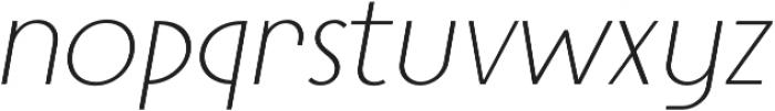 Steamer Light Italic otf (300) Font LOWERCASE