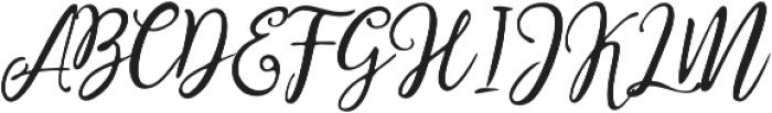 Stella Wilson Script otf (400) Font UPPERCASE